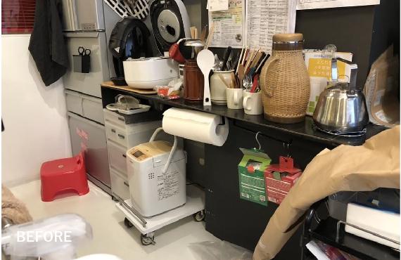 Mi邸キッチン下段BEFORE